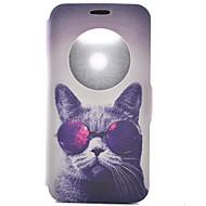 Mert LG tok Kártyatartó / Állvánnyal / Betekintő ablakkal / Flip / Minta Case Teljes védelem Case Cica Kemény Műbőr LGLG G5 / LG G4 /