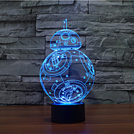 Touch Dimming 3D LED Night Light 7Colorful Decoration Atmosphere Lamp Novelty Lighting Light