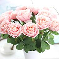 お買い得  -1 ブランチ ポリエステル バラ テーブルトップフラワー 人工花