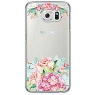 tanie Etui na telefony-Kılıf Na Samsung Galaxy Samsung Galaxy S7 Edge Ultra cienkie Półprzezroczyste Czarne etui Kwiaty Miękkie TPU na S7 edge S7 S6 edge plus
