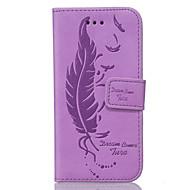 Для Samsung Galaxy S7 Edge Бумажник для карт / Кошелек / со стендом / Флип / Рельефный Кейс для Чехол Кейс для Перо МягкийИскусственная