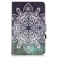 Для Кейс для  Samsung Galaxy Бумажник для карт / Кошелек / со стендом / Флип / С узором Кейс для Чехол Кейс для Мандала Мягкий
