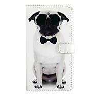Недорогие Кейсы для iPhone 8 Plus-Кейс для Назначение Apple iPhone X iPhone 8 iPhone 6 iPhone 7 Plus iPhone 7 Бумажник для карт Флип Чехол С собакой Твердый Кожа PU для