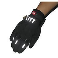 abordables Lonas para Moto-montando guantes del tacto del dedo lleno reflexivo deslizamiento sin olor no tóxico resistente impermeable y transpirable