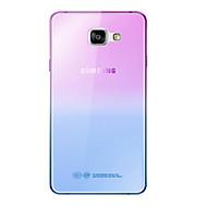 Для Кейс для  Samsung Galaxy Ультратонкий Кейс для Задняя крышка Кейс для Градиент цвета Мягкий TPU SamsungA7(2016) / A5(2016) / A3(2016)
