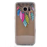 """Для Samsung Galaxy S7 Edge Прозрачный / С узором Кейс для Задняя крышка Кейс для Рисунок """"Ловец снов"""" Твердый Акрил SamsungS7 edge / S7 /"""