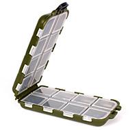 abordables Cajas para Pesca-Caja de pesca Caja de equipamiento Impermeable 1 Bandeja El plastico 3.3 cm 13 cm