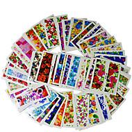 abordables Adhesivos para Uñas-50 pcs Joyas de Uñas arte de uñas Manicura pedicura Flor / Clásico Diario / Joyería de uñas