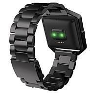 Недорогие Аксессуары для смарт-часов-Ремешок для часов для Fitbit Blaze Fitbit Спортивный ремешок Металл / Нержавеющая сталь Повязка на запястье