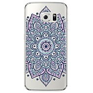 billige Galaxy S4 Etuier-For Samsung Galaxy S7 Edge Transparent Mønster Etui Bagcover Etui Mandala-mønster Blødt TPU for SamsungS7 edge S7 S6 edge plus S6 edge S6
