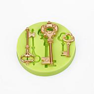 케이크 장식 금형 바로크 빈티지 스타일 키 실리콘 몰드 초콜릿 폴리머 점토 사탕 도구 색상 임의