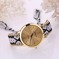 abordables Relojes-Mujer Cuarzo Reloj Pulsera Reloj Casual Tejido Banda Bohemio Moda Múltiples Colores
