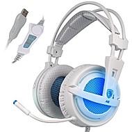 お買い得  -SADES A6 オーバーイヤー / ヘアバンド ケーブル ヘッドホン 動的 プラスチック ゲーム イヤホン ボリュームコントロール付き / マイク付き / ノイズアイソレーション ヘッドセット