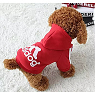 abordables Accesorios para Mascota-Gatos / Perros Disfraces / Abrigos / Saco y Capucha / Camiseta Rojo / Negro / Azul / Rosado / Amarillo / Gris / Azul ClaroInvierno /