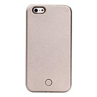 Недорогие Кейсы для iPhone 8-Кейс для Назначение Apple iPhone X / iPhone 8 / iPhone 6 Plus Защита от удара / Защита от пыли / Мигающая LED подсветка Кейс на заднюю панель Однотонный Твердый Кожа PU для iPhone X / iPhone 8 Pluss