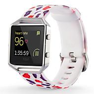 Недорогие Аксессуары для смарт часов-Красный / Зеленый / Розовый силиконовый Спортивный ремешок Для Fitbit Смотреть 23мм