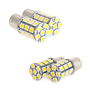 4X White 1156 BA15S LED 27-SMD Light Bulbs Tail Backup RV Camper 1141