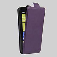 お買い得  携帯電話ケース-ケース 用途 Nokia Lumia 630 その他 Nokia Nokiakケース カードホルダー 耐埃 耐衝撃 フルボディーケース 純色 ハード PUレザー のために