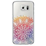 Для Samsung Galaxy S7 Edge Ультратонкий / Полупрозрачный Кейс для Задняя крышка Кейс для Кружевной дизайн Мягкий TPU SamsungS7 edge / S7