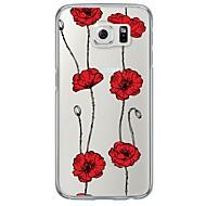 Для Samsung Galaxy S7 Edge Ультратонкий / Полупрозрачный Кейс для Задняя крышка Кейс для Цветы Мягкий TPU SamsungS7 edge / S7 / S6 edge