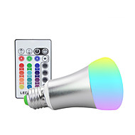 1100 lm E26/E27 LED Stage Lights ST64 9 leds High Power LED Dimmable Decorative Remote-Controlled RGB AC 85-265V