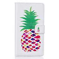 Недорогие Чехлы и кейсы для Galaxy S7 Edge-Кейс для Назначение SSamsung Galaxy Samsung Galaxy S7 Edge Бумажник для карт Кошелек со стендом Флип С узором Чехол Фрукты Мягкий Кожа PU
