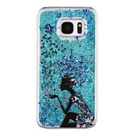 Для Samsung Galaxy S7 Edge Движущаяся жидкость / Прозрачный / С узором Кейс для Задняя крышка Кейс для Соблазнительная девушка Твердый PC