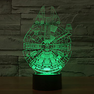 Millennium Falcon 3D LED Night Light 7Colorful Decoration Atmosphere Lamp Novelty Lighting Light
