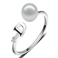Кольца для пар Кольца на вторую фалангу Массивные кольца Жемчуг Жемчуг Стерлинговое сереброКроссовер Мода Регулируется обожаемый По