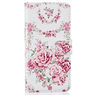 Недорогие Кейсы для iPhone-Для Кошелек / Бумажник для карт / со стендом / Флип / С узором Кейс для Чехол Кейс для Цветы Твердый Искусственная кожа AppleiPhone 7