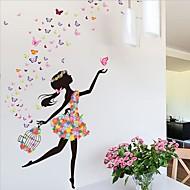 카툰 벽 스티커 플레인 월스티커 데코레이티브 월 스티커,PVC 자료 이동가능 / 재부착가능 홈 장식 벽 데칼