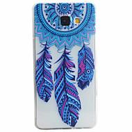billige Etuier / covers til Galaxy A-modellerne-Etui Til Samsung Galaxy Samsung Galaxy etui Mønster Bagcover Fjer Blødt TPU for A5(2016) A3(2016)