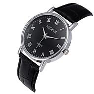 Недорогие Мужские часы-Муж. Наручные часы Кварцевый / Повседневные часы Кожа Группа На каждый день Cool Черный Коричневый