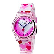 cheap Girl's Watches-Wrist Watch Quartz Pink Cool Colorful Analog Ladies Heart shape Candy color Casual Fashion - Pink