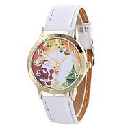 voordelige Modieuze horloges-Dames Modieus horloge Kwarts Digitaal Maanfase PU Band Amulet Vintage Snoep Informeel Cool Zwart Wit