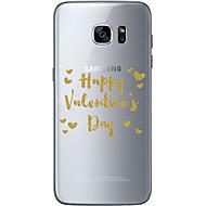 Для Samsung Galaxy S7 Edge С узором Кейс для Задняя крышка Кейс для Слова / выражения Мягкий TPU SamsungS7 edge / S7 / S6 edge plus / S6
