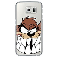 cheap Samsung Accessories-Cartoon Wolf Pattern Soft Ultra-thin TPU Back Cover For Samsung Galaxy S7 edge S7 S6 edge S6 edge plus S6 S5 S4