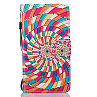 Для Кейс для  Samsung Galaxy Кошелек / Бумажник для карт / со стендом / Флип / Рельефный / С узором Кейс для Чехол Кейс для Пейзаж Твердый