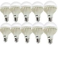 halpa LED-pallolamput-YouOKLight 10pcs 2W 140-180lm E26 / E27 LED-pallolamput A60(A19) 9 LED-helmet SMD 5630 Koristeltu Lämmin valkoinen Kylmä valkoinen
