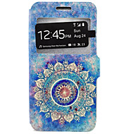 billige Galaxy J3 Etuier-Etui Til Samsung Galaxy Samsung Galaxy etui Kortholder Med stativ Fuldt etui Mandala-mønster Hårdt PU Læder for J7 J5 J3 (2016) J3