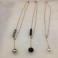 Женский Ожерелья с подвесками Жемчужные ожерелья Жемчуг Титановая сталь Позолота Позолоченное розовым золотомМода обожаемый По заказу