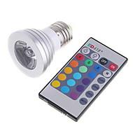 3w rgb lampun väri infrapunakauko-ohjain himmennys led-valaistus (ac 85-265v)