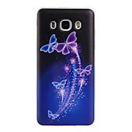 Для Кейс для  Samsung Galaxy С узором Кейс для Задняя крышка Кейс для Бабочка Мягкий TPU Samsung J7 (2016) / J5 (2016) / J3 (2016)