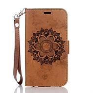 Для Кейс для  Samsung Galaxy Кошелек / Бумажник для карт / со стендом / Рельефный Кейс для Чехол Кейс для Мандала ТвердыйИскусственная