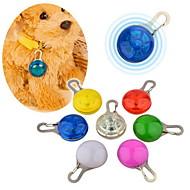 Macskák Kutyák Címkék Vízálló LED fények Biztonság Tömör Piros Fehér Zöld Kék Rózsaszín Sárga Narancssárga Műanyag