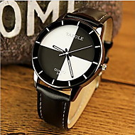 Недорогие Фирменные часы-YAZOLE Жен. Модные часы Повседневные часы Кварцевый Повседневные часы Кожа Группа Черный Белый Красный