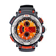 abordables Relojes Deportivos-Hombre Reloj Deportivo / Reloj de Moda / Reloj Militar Calendario / Cronógrafo / LED Caucho Banda Vintage / Casual Negro / Luminoso / Cronómetro / Noctilucente
