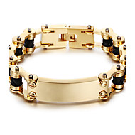 Kalen New 18K Dubai Gold Plated Men's Bracelet 316L Stainless Steel Link Chain&Leather Bracelet Fashion Male Accessories Christmas Gifts