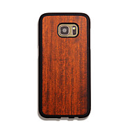 Na Samsung Galaxy Etui Etui Pokrowce Ultra cienkie Other Etui na tył Kılıf Tekstura drewna Twarde Drewno na Samsung S7 edge S7