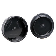 Dengpin Rear Lens Cover +Camera Body Cap for Leica R3 R4 R5 R6 R7 R8 R9